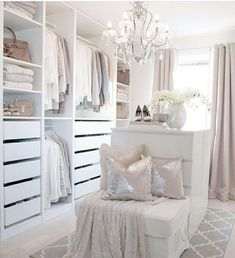 [New] The 10 All-Time Best Home Decor (Right Now) - Home Decor by Graciela Tan - Welp I found my new walk in closet inspiration- thank you for making it so easy. Dressing Room Closet, Dressing Room Design, Sala Glam, Wardrobe Room, Wardrobe Storage, Beautiful Closets, Master Bedroom Closet, Luxury Closet, Glam Room