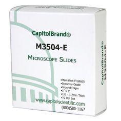 CapitolBrand M3504-E Borosilicate Glass Economy Grade Plain Microscope Slides, 1 x 3″ Size, 1mm Th... #microscope #science
