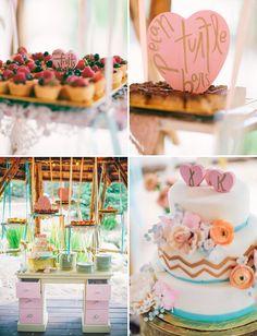 Rustic Wedding Cupcake Display   chic way to dress up an outdoor wedding via green wedding shoes