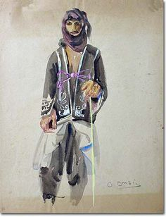 Bedouin (1926) - Omar Onsi His Travel, Fine Art Photography, Middle East, Impressionist, Printmaking, Persian, 21st, Artists, Canvas