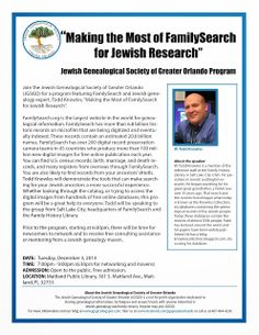 Making the Most of FamilySearch for Jewish Research