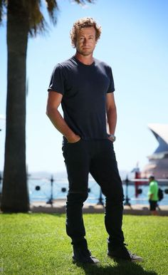 DECEMBER 1, 2017/Simon Baker poses during a photo shoot in Sydney, New South Wales.