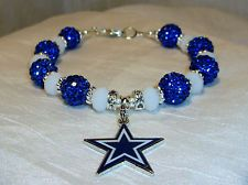 bf4bc7fa4 Dallas Cowboys~Bracelet~Jewelry~Star Logo Charm~Pave Balls~Major Bling