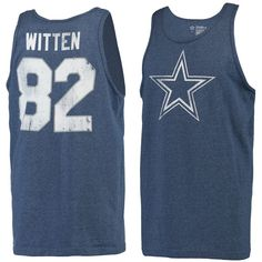 Men's Jason Witten Navy Dallas Cowboys Player Name and Number Tank Top