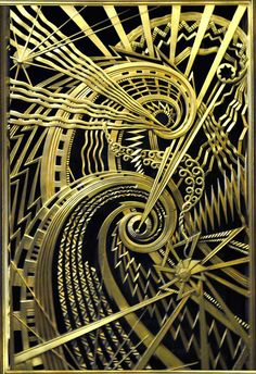 Art Deco panel, the Chanin Building, N.Y.