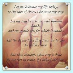Massage Therapist Prayer