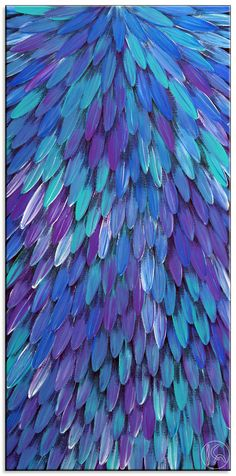 Emu Dreaming by Raymond Walters Japanangka     blue, purple, aqua Purple Pattern, Feather Pattern, Purple Art, Shades Of Purple, Violet Background, Blue Feathers, Bleu Turquoise, Aqua Blue, Color Patterns