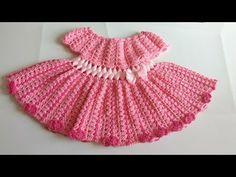 Vestido a crochet para bebe parte #2 - YouTube