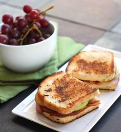 Smoked Gouda, Apple, and Bacon Melt.