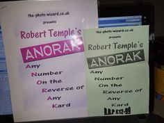 Robert Temple's ANORAK Any Number On the Reverse of Any Card Manuscript tricks Please check out all our rare value priced Magic tricks & Books at: http://stores.ebay.com/webrummage