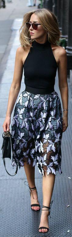 bodysuit midi skirt