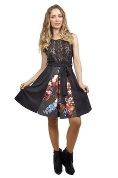 Savage Culture: Black Rose Origami Bodice Dress Rene, $99.00. Inspired by Origami Black Rose bouquet! Only on WC!