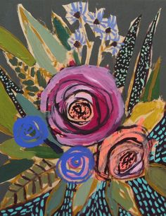 Lulie Wallace #flower #painting