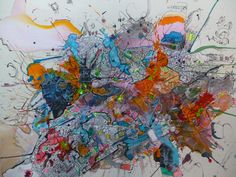 Armando plaquetas - Pintura, 139x114x0 cm ©2016 por Jonnattan Barreiro - Arte abstracto, Lienzo, Arte abstracto, tecnología, conexiones, cibernetico, cyber, punk