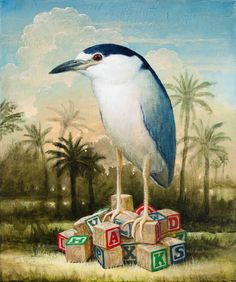 Art by Kevin Sloan Animal Posters, Vintage Birds, Pop Surrealism, Art For Art Sake, Surreal Art, Bird Art, Figurative Art, Love Art, Pet Birds