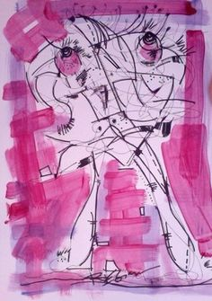 R. Marinho pink drawing #art