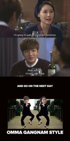 Mother and son go Gangnam style (Dramatroll) #heirs