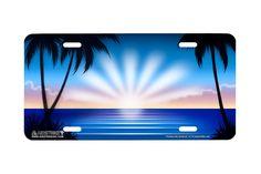 53a7e585c9872e Airstrike® Beach License Plate 317-