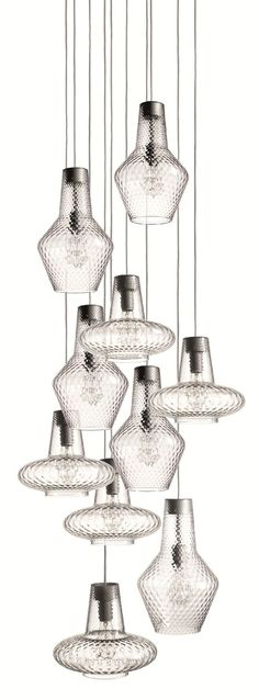 ROMEO E GIULIETTA LAMP | Blown glass pendant lamp ROMEO E GIULIETTA…: