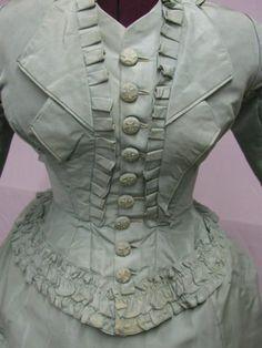 1108 High Fashion 1868 1870's 3 PC Seafoam Green Ensemble   eBay