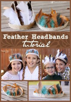 how to make cute Feather Headbands - a perfect Thanksgiving Craft!!