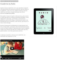 Nota de prensa sobre iCuadernos by Rubio en Cajón Online.