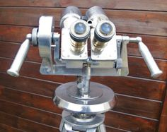 ANTIQUE giant Vintage OBSERVATION MARINE BINOCULARS POLISHED 10 X 80