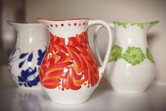 Azulina Ceramics - Amapola Serving Pitcher, $86.00 (http://shop.azulina.com/amapola-serving-pitcher/)