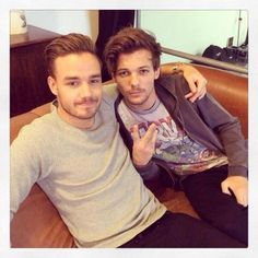 Liam and Louis at a photoshoot today