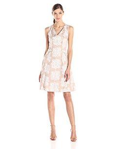 e9df91f772017 Nine West Women s Sleeveless V-Neck Fit and Flare Dress