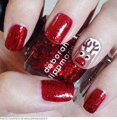 Christmas nails! #cute