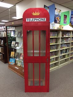 Superman/Clark Kent Telephone booth! #library #superman #phone booth #phonebooth