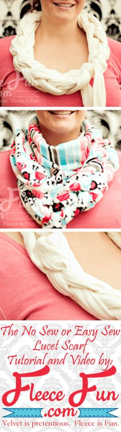 The Lucet Scarf a DIY tutorial {no sew} 2019 Lucet scarf tutorial no sew and easy sew options with a video tutorial! The post The Lucet Scarf a DIY tutorial {no sew} 2019 appeared first on Scarves Diy. Fleece Crafts, Fleece Projects, Fabric Crafts, Sewing Tutorials, Sewing Projects, Sewing Patterns, Sewing Ideas, Scarf Patterns, Sewing Tips