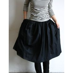 the black skirt with stripes t-shirt... | Sumally