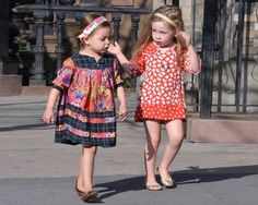 The Stella McCartney dove print dress on SJP's little one is divine.