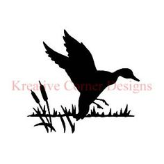 Cattail STENCIL Outdoor Camo Garden Flying Duck Hunting Rustic sign
