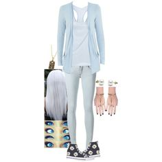 Aislinn Torres by kurlycrazykat on Polyvore featuring polyvore fashion style James Perse rag & bone Converse INDIE HAIR