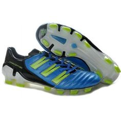 pretty nice abc0e e8449 Adidas Predator TRX FG Adipower Bleu Noir Vert Cheap Soccer Shoes, Adidas  Soccer Shoes,
