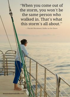 Even storms have their value.