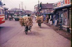 Designersparty / 달성동 [Dalseong-dong, 達城洞] Daegu, 1974  대구부 동상면 지역이었으나 1914년 행정구역 통폐합 때 5구역으로 나뉘어 성정(인교동)·횡정(서야동)·팔중항정(도원동)·팔운정(수창동)이 되었고 나머지 지역이 달성정(達城町)이 되었다.  8·15광복 뒤인 1946년 일제 잔재 청산의 일환으로 정(町)을 없애면서 달성동으로 바뀌었으며, 1975년 10월 일부를 서구에 넘기고 1981년 대구직할시 중구 달성동을 거쳐 1995년 대구광역시 중구 달성동이 되었다.      http://www.designersparty.com/ The process of making body and sprit of Korean Design / 대구 중 달성 / #골목 #거리 #역사 / 1974 /