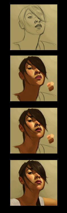 Face Study Tutorial by ~nailpipe on deviantART ✤ || CHARACTER DESIGN REFERENCES | キャラクターデザイン •