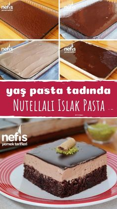 Nutellalı Islak Pasta (videolu) – Nefis Yemek Tarifleri – How to make Nutella Wet Pie (with video) Recipe? Illustrated explanation of this recipe in the book of 704 people and photos of those who have tried here. How To Make Nutella, Green Curry Chicken, Red Wine Gravy, Dessert For Two, Flaky Pastry, Wie Macht Man, Mince Pies, Moist Cakes, Yummy Food