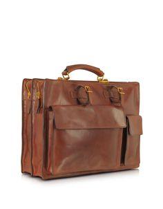 The Bridge Story Uomo Marrone Leather Briefcase at FORZIERI Australia
