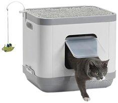 The 25 Best Litter Box Furniture of 2020 - Cat Life Today Litter Box Smell, Hiding Cat Litter Box, Diy Litter Box, Hidden Litter Boxes, Best Litter Box, Litter Box Covers, Litter Box Enclosure, Cat Litter Cabinet, Liter Box