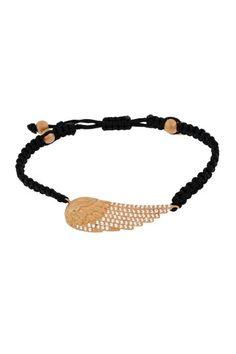Rose gold angel wing bracelet HauteLook