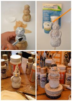 I prefer to use broken or cracked gourds as my base, but.*Rook No. recipes, crafts & whimsies for spreading joy*: Vintage Folk Art Style Paper Mache Snowman Tutorial Primitive Christmas, Christmas Snowman, Handmade Christmas, Vintage Christmas, Christmas Holidays, Christmas Decorations, Christmas Ornaments, Snowman Ornaments, Snowman Crafts