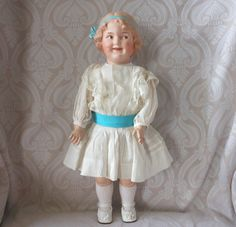 """Large Gebruder Heubach German Bisque Character Doll """"Coquette"""" from joan-lynetteantiquedolls on Ruby Lane"""