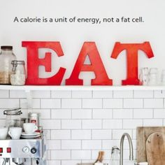 Not enough people realize this! Stop thinking of calories as the enemy.
