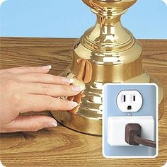 Touch & Glow -Makes Any Lamp a Touch Lamp by Bright Image Corp. $21.99. This nifty lighting device plugs into any wall outlet. Touch & Glow transforms your ordinary lamps into versatile touch lighting. Touch & Glow  converts your standard bulbs into 3-way lights. Works on floor or table lamps, swags, hanging lamps, and reading lights.. Touch & Glow transforms your ordinary lamps into versatile touch lighting, instantly! Touch & Glow is an innovative voltage adjus...