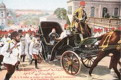 Sultan Abdul Hamid II of Ottoman travelling to the Friday Prayers after the Proclamation of the Constitution in Constantinople, Abdul Hamid II was the last Ottoman Sultan to rule with absolute power. Turkish People, Ulsan, Blue Bloods, Ottoman Empire, Moorish, Istanbul, Egypt, Singapore, History